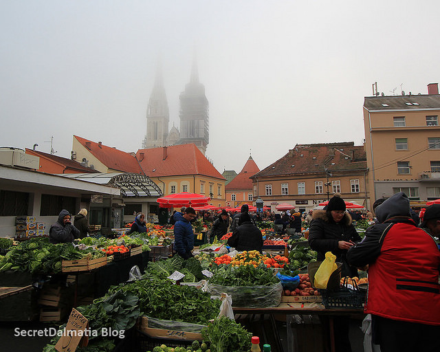 Dolac Market in the Winter Morning